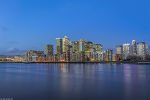 Canary Wharf Blue Hour